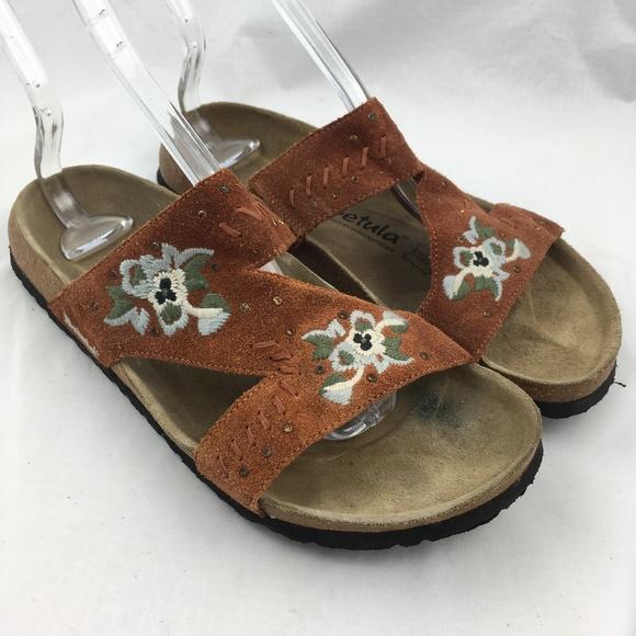 b08ac73a3c86 Birkenstock Shoes - Betula birkenstock sandals slides embroidered Zara